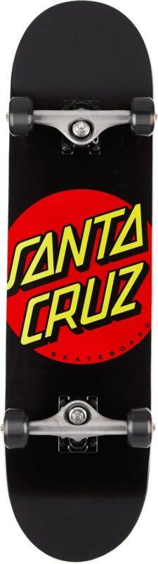 Santa Cruz Classic Dot Skateboard Complete Sz 8 x 31.25in Black/Red