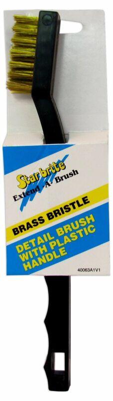 Star brite Detail Brush With Plastic Handle & Brass Bristles