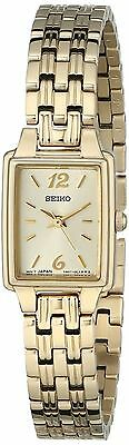 Seiko Women's SXGL62 Dress Gold-Tone Stainless Steel Dial Watch