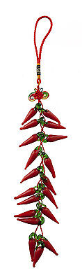 Chili Red Red Pepper Chinese Talisman Feng Shui Wealth Prosperity 6672-FS9
