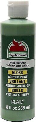 Apple Barrel Acrylic Paint Gloss Real Green 8 Ounce New! *SALE*