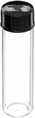 Glass Vials - 2 Dram 28 Oz Clear With Screw Caps