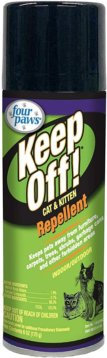 Four Paws Keep Off indoor outdoor cat & kitten spray 6 oz Re
