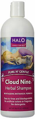Pure and Gentle Cloud 9 Herbal Shampoo, 16 oz for Dog Cat -HALO PURELY FOR PETS (Halo Herbal Shampoo)