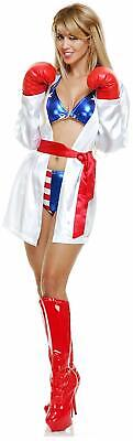 Total Knockout Boxer Girl Fighter Fancy Dress Up Halloween Sexy Adult