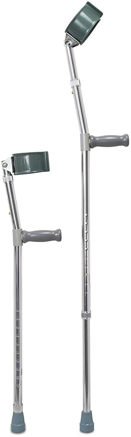 """Mckesson Steel Adult Forearm Crutches 5' to 6' 2"""" User Ht.,"""