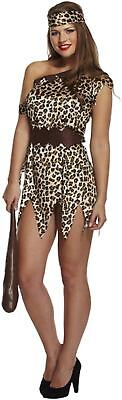 Adult Female Cave Woman Fancy Dress Dressing Up Outfit Costume Hen Do NEW