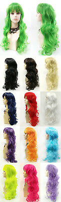 Long Wavy Color Wig with Bangs Anime Cosplay Costume 25