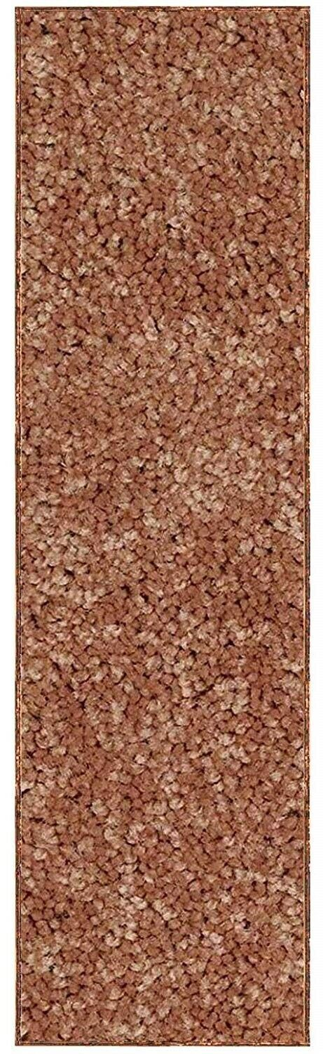 Solid Color Rust Custom Size Runner Area Rug