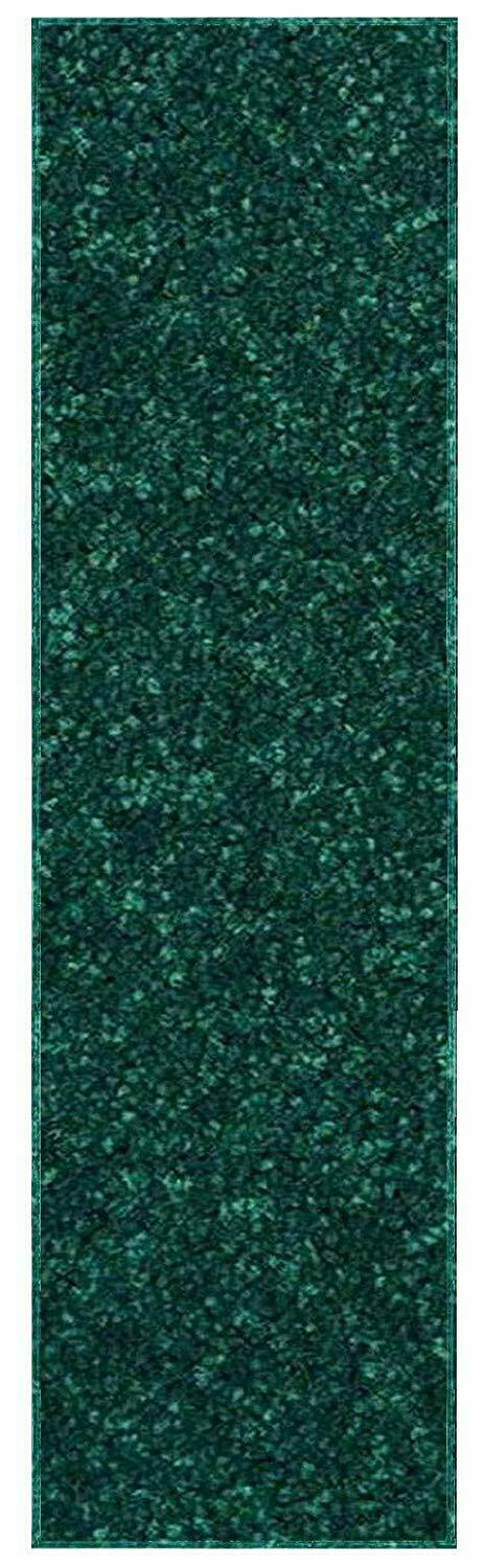 Solid Color Forest Green Custom Size Runner Area Rug
