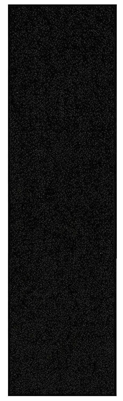Solid Color Black Custom Size Runner Area Rug