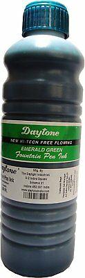 lot of Emerald Green Ink 500 ml X 2 bottle Green Fountain pen Ink