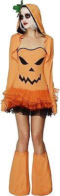 Ladies Sexy Pumpkin Tutu Halloween Carnival Fancy Dress Costume Outfit UK - Pumpkin Halloween Costume Uk