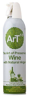 ArT Wine Preserver | Argon Wine Saver | Must have wine accessory | Wine Stopper