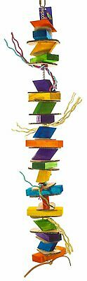 Birds LOVE Zigzag Wood Bird Toy for Bird Cage for All Medium and Large Birds