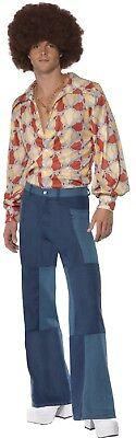 Herren 1970s Tanz Fever 70s Jahre Jahrzehnte Retro Stag Do Kostüm Kleid Outfit