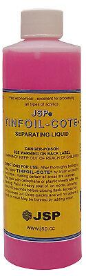 Jsp Tin Foil-cote Separating Liquid 8oz 236ml Tin Foil Substitute De114