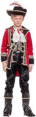 Italienische Herstellung Jungen Luxus 8 St. Pirat Kapität Kostüm Kleid (Italienische Kostüme)
