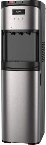 HOmeLabs Bottom Loading Water Dispenser 3/5 Gal Bottle Stainless Steel Hot/Cold