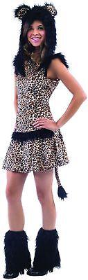Leopard Halloween Kostüm Kunstpelz Tween Halloween Größe Teen 12-14