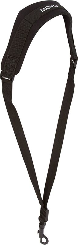 Movo MS-20L Neoprene Instrument Strap for Saxophones Clarinets Black/Long