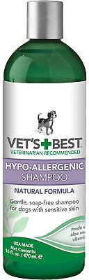 Vet's Best Hypo Allergenic Shampoo for Dogs 16 fl (Best Hypoallergenic Dog Shampoos)