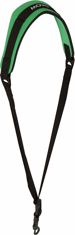 Movo MS-20L-G Neoprene Instrument Strap for Saxophones Clarinets Green/Long