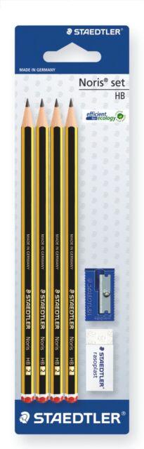 Staedtler Noris® Set HB/4 Pencils+Sharpener+Rasoplast Eraser/Perfect BACK2SCHOOL