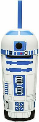 STAR WARS R2D2 CHILDRENS CHILDS DRINKS BOTTLE CUP WITH STRAW