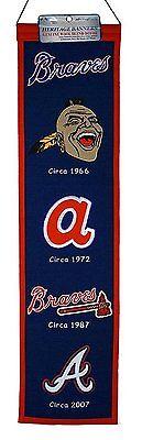 MLB Baseball ATLANTA BRAVES Heritage Banner großer Wimpel Pennant Wolle