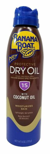 Banana Boat Continuous Spf#15 Spray Dry Oil 6oz