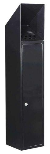 Qualarc WF-L1028S Newark Free Standing Cigarette Ash Receptacle,Black
