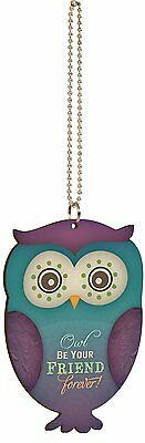 """OWL BE YOUR FRIEND FOREVER Owl Car Charm, 4"""" Tall, Hang from Rear-View Mirror!"""
