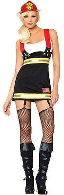 Donna Sexy Pompiere Servizi di Emergenza Gioco di Ruolo Costume UK 4-6