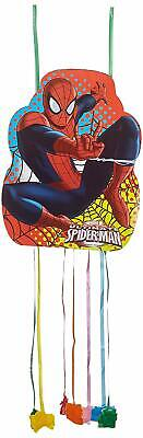 Marvel Ultimate Spider-Man Pinata Sweets Pull String Birthday Party 33 x 46cm