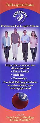 PURE STRIDE Full Length Orthotics Inserts Arch Support New All - Full Length Arch Support