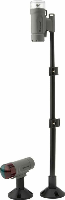 attwood 14192-7 Water-Resistant Deck Mount LED Navigation Light Kit, Marine G...