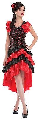 Damen Sexy Rot Spanischer Flamenco Tänzer Kostüm Kleid - Tänzer Outfits Kostüme