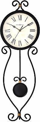 Howard Miller Ivana Wall Clock 625-495 – Modern Wrought-Iron & Quartz Movement