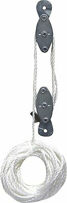Rope Hoist Pulley Wheel Block And Tackle 2000lb Wild Game Deer Hanger New