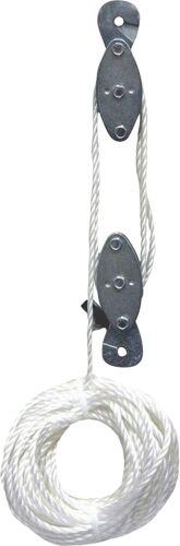 Rope Hoist Pulley Wheel Block and Tackle 2,000lb Wild Game Deer Hanger NEW
