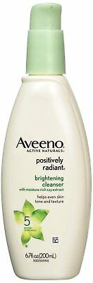 Aveeno Positively Radiant Brightening Cleanser For Face, 6.7 Fl. oz. Aveeno Oil Free Cleanser