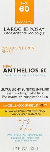 La Roche-Posay Anthelios 60 Ultra Light Sunscreen, SPF60 1.7 fl oz- EXP- 2021