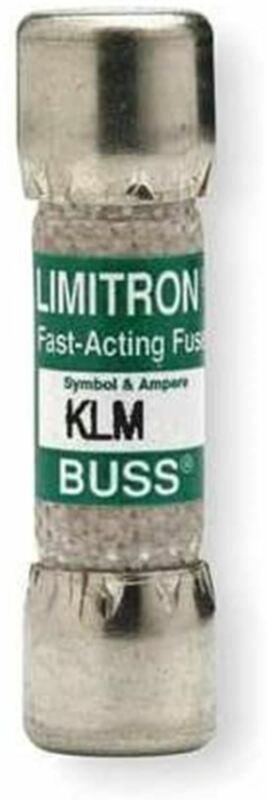 Pack of 10 Fuses Cooper Bussmann KLM-25, 25 Amp (25A), 600V, Fast Acting Midget