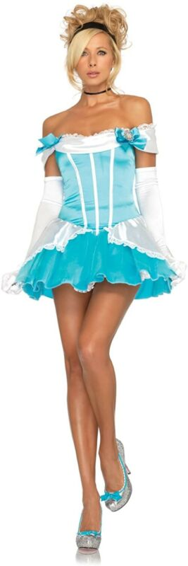 Leg Avenue Glass Slipper Princess Cinderella Womens Halloween Costume Size M
