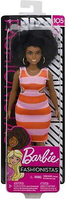 Mattel Barbie Fashionistas 2 Tone Stripe Cut Out Dress #105
