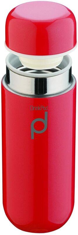 Grunwerg Pioneer Thermos DrinkPod in Acciaio Inox, Inox 18/10,...