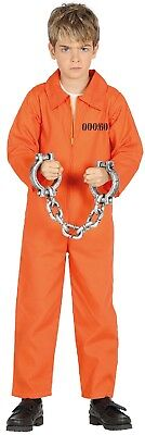 Mädchen Jungen Gefangene Inmate Halloween Horror Kostüm Kleid Outfit 3-12 Jahre