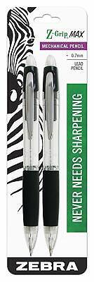 Z-grip Max Mechanical Pencil 0.7mm Point Size Standard Hb Lead Black Grip 2 Pcs
