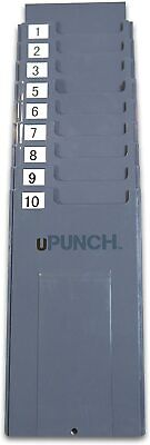 Upunch Hntcr10 Time Card Rackpunch Card Holder10 Slots3 38 Wide